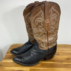 Lucchese Black brown Boot Women's US 8 C Western C
